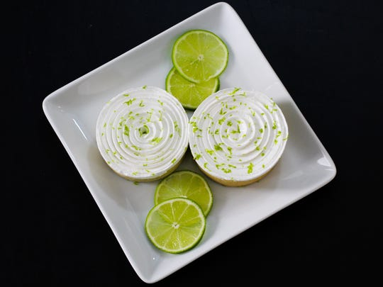 Kiwi-lime tarts are among the desserts that will be served at Greige Patisserie, 408 W. Florida St.