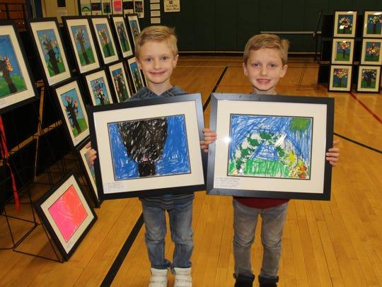 Guy and Rhett Nelson, grade 1 and kindergarten.