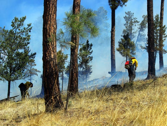 Ruidoso firefighters prevented the fire from running