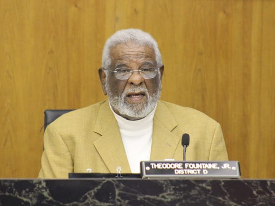 Rapides Parish Police Juror Theodore Fountaine wanted a roll-call vote on the motion to cut $700,000 from the district attorney's office, but didn't get it. A motion he made for that failed to get seconded.