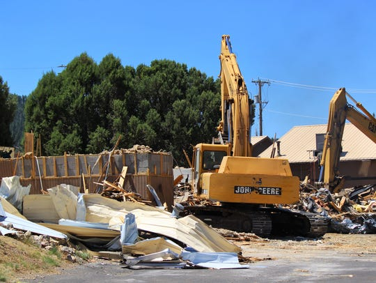 The former headquarters of the Lincoln County Medical Services was demolished to make way for the new hospital.