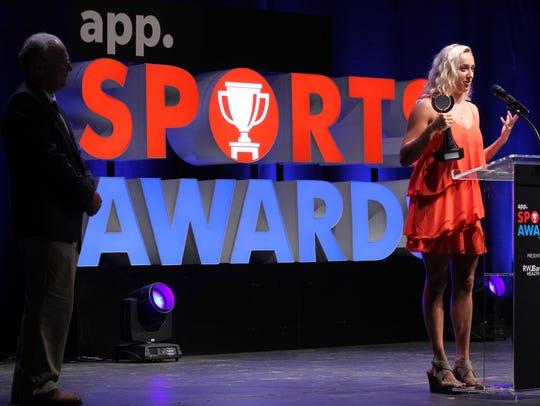 Girls Athlete of the Year Manasquan's Dara Mabrey accepts