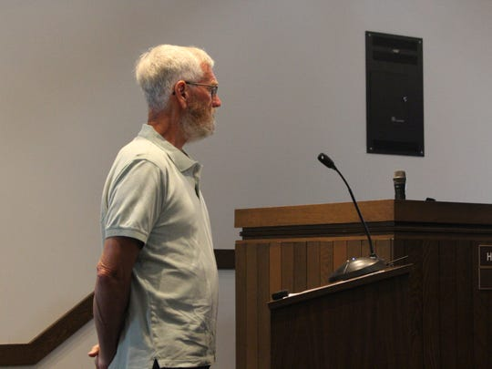 Tom Culp, who's helping Sar Shalom with its new community center, speaks before Ontario Planning Commission on Wednesday, June 13, 2018.