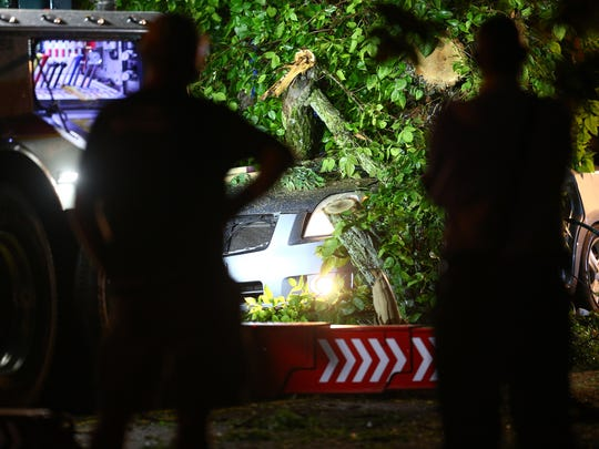 Victims are rescued after being entrapped in a car