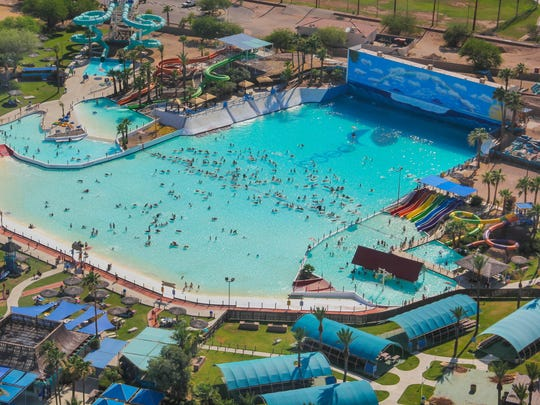 The Waikiki Beach Wave Pool holds 2.5 million gallons of water. All guests under 48 inches tall must wear a life vest in the wave pool.