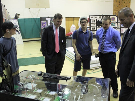 Senator Tom Kean visits winner of High School Technology and Engineering Teacher of the Year award, Frank Caccavale, his students at Ridge High School on June 13 at 9 a.m.