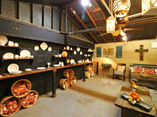 The Olde Crow Mercantile offers a variety of antique dishware and custom made lighting with a farm-style flare.