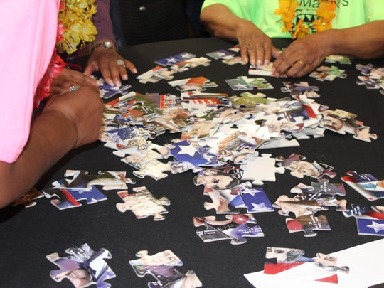 Senior citizens must complete a puzzle they've never seen before as fast as they can in 15 minutes.