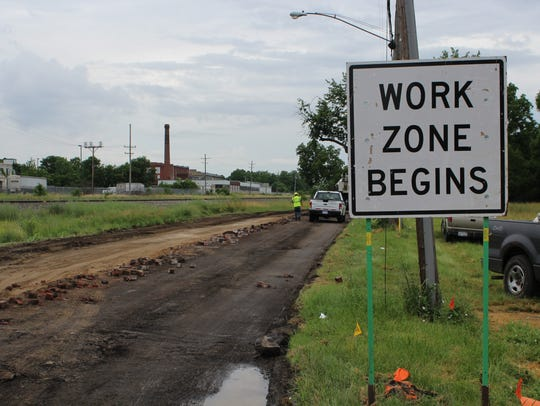 Lafayette Avenue is one of the roads under reconstruction by the city this summer. This project is funded by a federal grant.