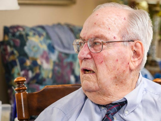 """Albert """"Skip"""" Braak, Thursday, June 28, 2018, in Des Moines, veteran who survived the 1954 naval disaster aboard the USS Bennington that killed over 100 sailors and airmen."""
