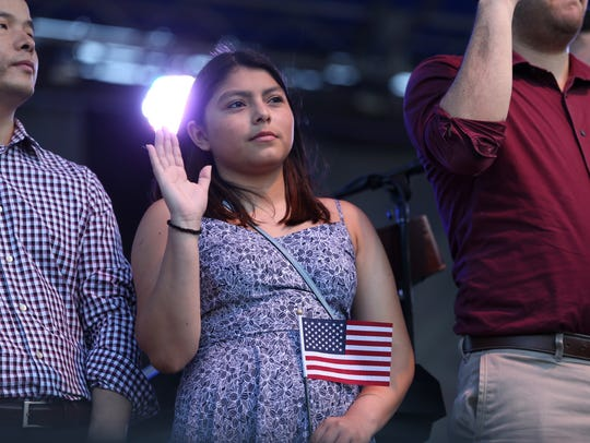 Merily Adelita Ramon of Mexico swears her allegiance