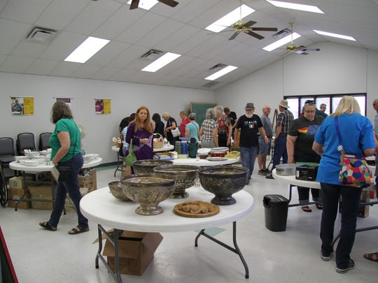 Several people went to the first day of an estate sale Friday, June 29, 2018, by nonprofit Southeastern New Mexico Historical Society. The items are personal belongings of the late Jed Howard, who did in September 2017.