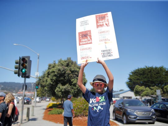Monterey was just one of the 750 locations that held rallies across the country in an effort to send the message that families belong together.