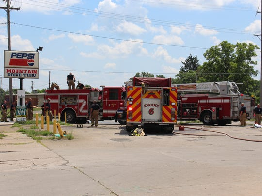 The Mansfield Fire Department responded to a fire Sunday