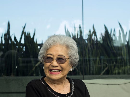 Cherry Ishimatsu, who moved to the Coachella Valley in 1949 together with her husband, at her retirement home in the Boyle Heights neighborhood of Los Angeles.