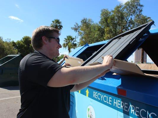 Phoenix apartment recycle drop off bin eco-station