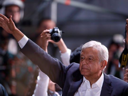Presidential candidate Andres Manuel Lopez Obrador