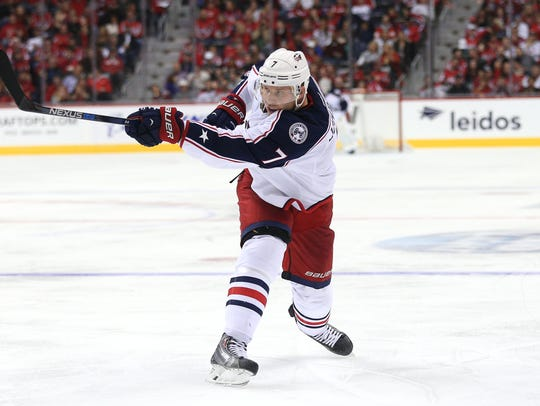 Former Michigan Wolverine and Columbus Blue Jackets