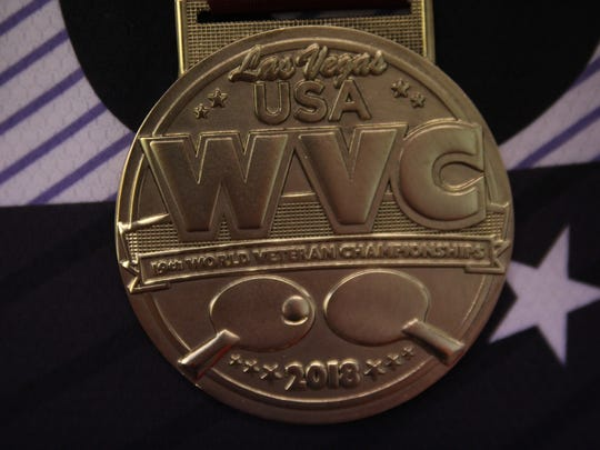 Richard Hicks' gold medal.