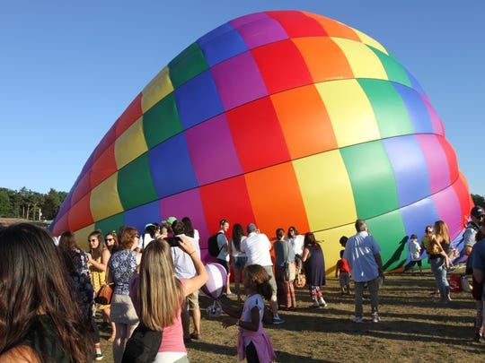 The Hudson Valley Hot-Air Balloon Festival, hosted by the Dutchess County Regional Chamber of Commerce, at the Dutchess County fairgrounds in Rhinebeck July 7, 2018.