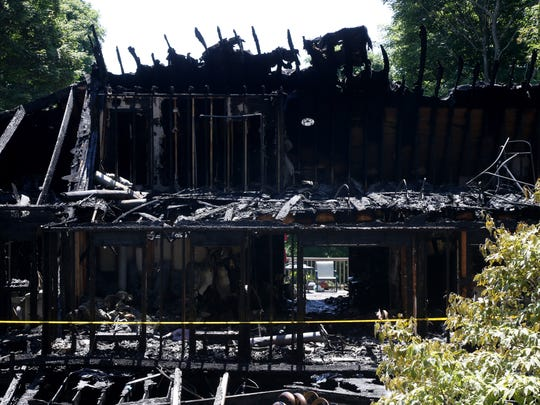 The scene of the fatal fire near the block of 700 Old Post Road in the town of Esopus on July 10, 2018.