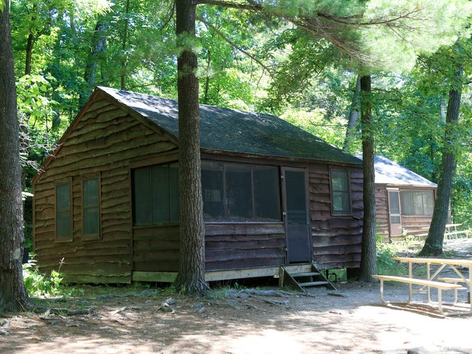 Cabins available for rent at Mills Norrie State Park