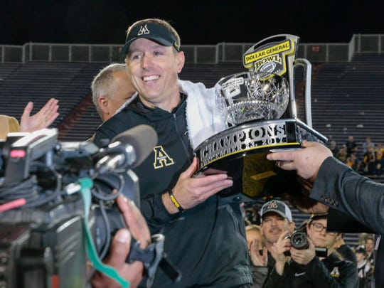 Satterfield has coached Appalachian State to four winning seasons in five years, two double-digit win totals and a share of the last two Sun Belt championships.