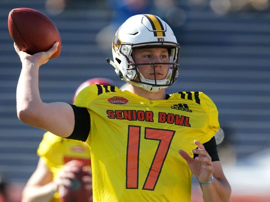 The Bills met Josh Allen face-to-face for the first time at the Senior Bowl.