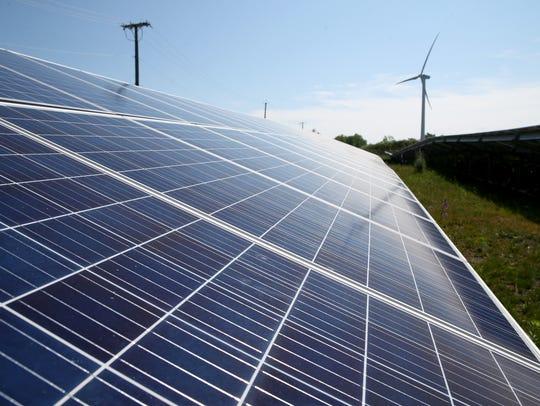 A solar farm at GreenSpark Solar feeds electricity