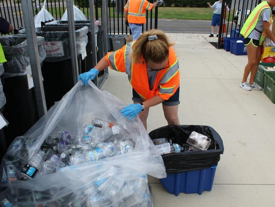 Marshall Recycling Center Volunteer Beth Lower of Ceresco