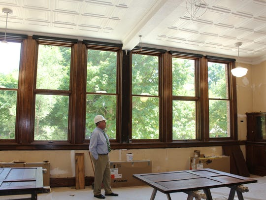 Pittsford Town Supervisor Bill Smith looks at the revamped