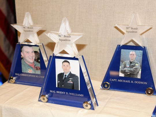 Six airmen were killed July 21, 2008, when a Barksdale B-52 operating out of Andersen Air Force Base, Guam, crashed into the Pacific Ocean during a training flight. The airmen were remembered Friday at Barksdale.
