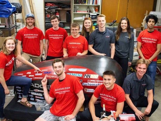 The Badgerloop team consists of more than 50 undergraduate students. They study a range of subjects, from computer science and engineering to business and communications.