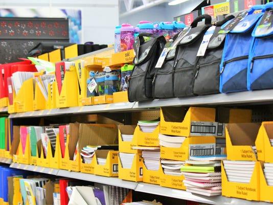 school supplies at Walmart