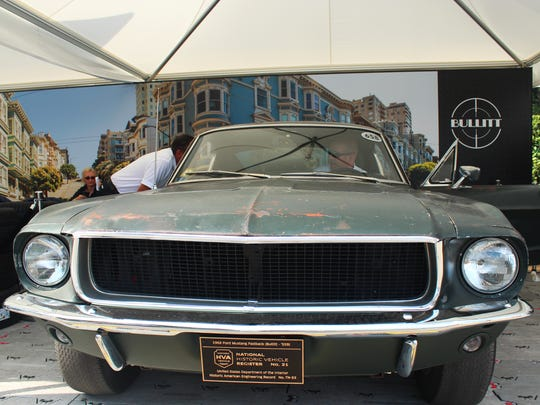 Ford Motor Co. flew the original 1968 Mustang GT Fastback,