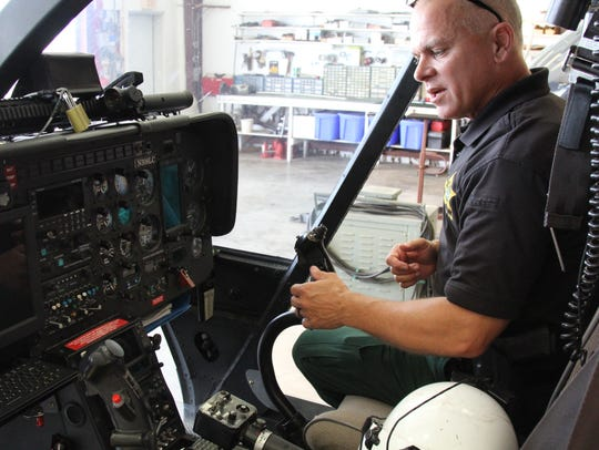 The cockpit of the LCSO Aviation Unit's helicopters