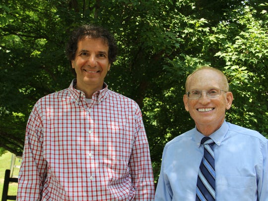 (Left to right) Dr. Gregory E. Broslawski, D.O., and