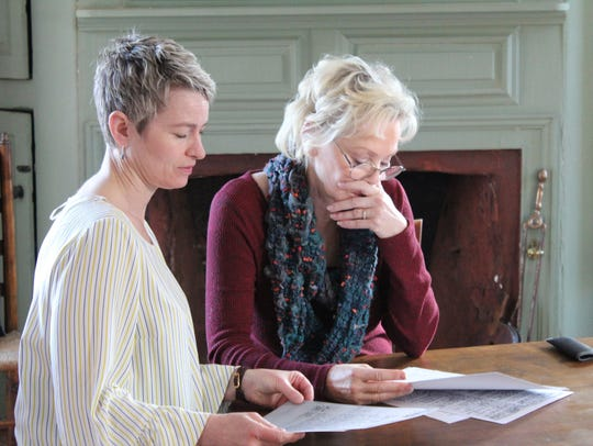 """Historian Ann Little and Jean Smart are pictured at the Hale House in Beverly, Massachusetts, in an episode of """"Who Do You Think You Are?"""""""