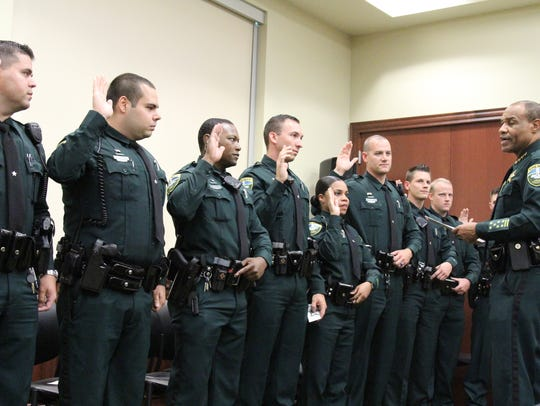 Leon County Sheriff Walt McNeil swears in new deputies