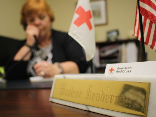 Marlene Henderson leads Red Cross initiatives across 13 counties from her office in Norwich.