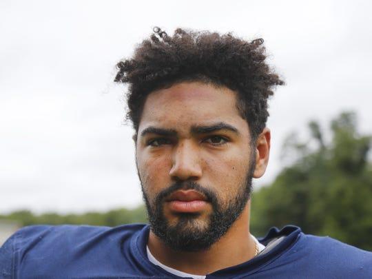 Izaiah Henderson during Mater Dei Prep High School football practice. Middletown,NJ.   Tuesday, August 21, 2018.  Noah K. Murray-Correspondent Asbury Park Press