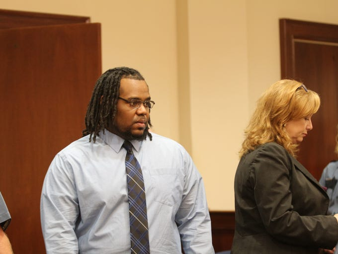 Kevin Forman enters the courtroom after a jury reaches
