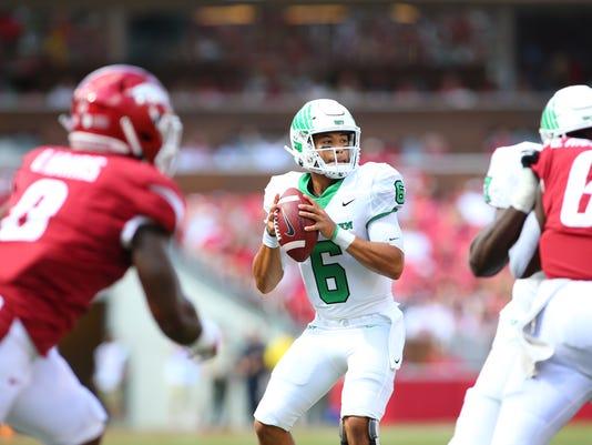 North Texas Mean Green Football vs Arkansas Razorbacks