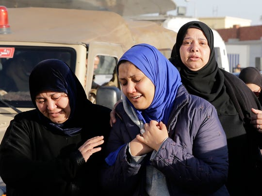 Family members of security forces killed in Sinai on
