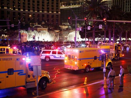 Las Vegas strip car crash