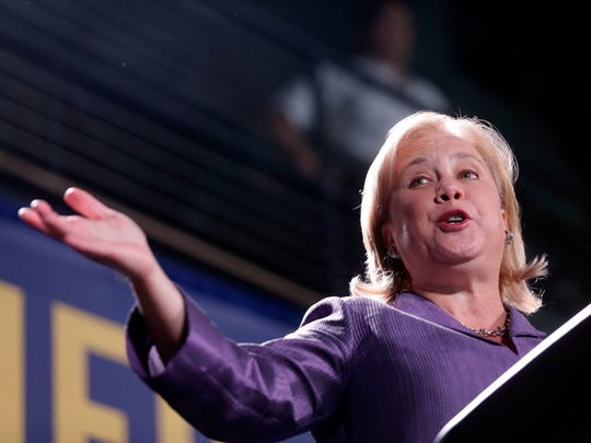 Sen. Mary Landrieu, D-La., speaks at a campaign event in New Orleans, on Saturday, Nov. 1, 2014.