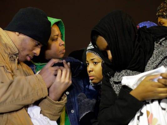 Ferguson crowd