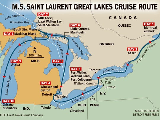 The first cruise is set for July 5-14, with the 10-day, nine-night cruise leaving from Quebec.