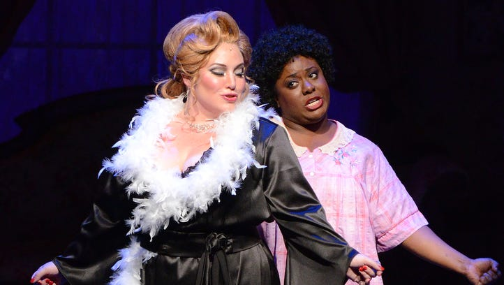 Cassandra Norville Klaphake (left) as Miss Mona and