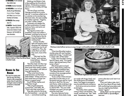 A Battle Creek Enquirer story about Dottie's in happier days.